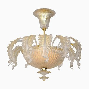 Murano Glass Chandelier from Barovier & Toso, 1950s