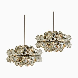 Diamond Chandeliers from Bakalowits & Söhne, Austria, 1970s, Set of 2
