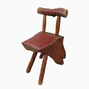 Handgemachter Baumstamm Stuhl