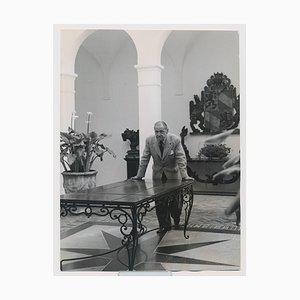 Britischer Dramatiker W. Somerset Maugham im Atrium von Edward Quinn, 1960