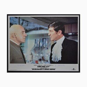 James Bond 007 auf Original-Lobby-Karte Ihrer Majestät Geheimagentur, England, 1969