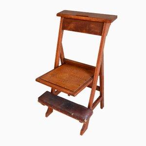 Antique Oak Prayer Chair