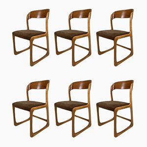 French Traineau Chairs from Baumann, 1960s, Set of 6