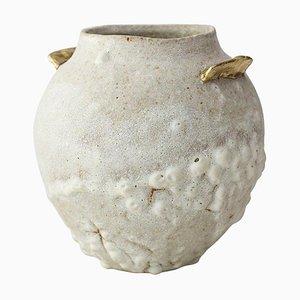 Glasierte isolierte N.10 Steingut Vase von Raquel Vidal und Pedro Paz