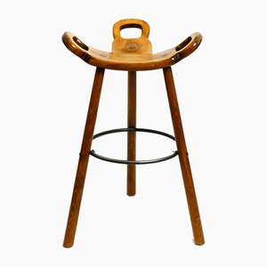 Spanish Marbella Barstool by Sergio Rodrigues for Confonorm, 1970s