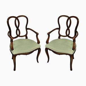 19th Century Venetian Armchairs, Set of 2