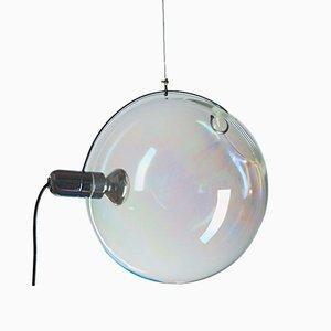 Lampade Sona moderne in vetro di Murano iridescente di Carlo Nason per Lumenform, anni '70, set di 2