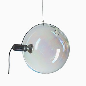 Lámparas Sona modernas de cristal de Murano iridiscente de Carlo Nason para Lumenform, años 70. Juego de 2