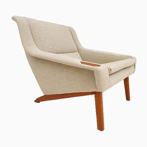 Danish Kvadrat Wool Armchair, 1970s