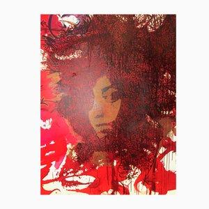 Street Art Urban Artwork Sun 7 Porträt von Inna Modja von Jonas Sun7, 2000er