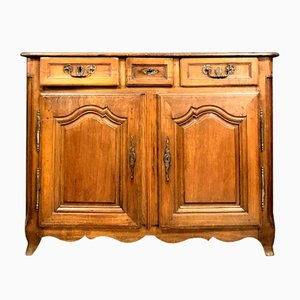 Rustic Louis XV Solid Oak Buffet