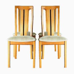 Chaises de Salon Mid-Century à Haut Dossier en Teck de Skovby Mobelfabrik, 1990s, Set de 4