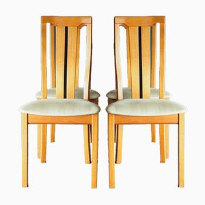 Mid-Century Teak High Back Dining Chairs from Skovby Mobelfabrik, 1990s, Set of 4