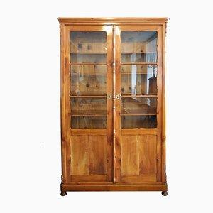 Libreria Biedermeier in legno di ciliegio