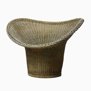 Mid-Century Wicker Chair by Egon Eiermann for Heinrich Murmann