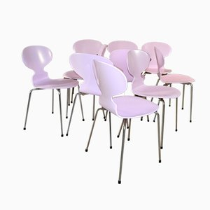 Pink Ant Stühle von Arne Jacobsen für Fritz Hansen, 1970er, 6er Set
