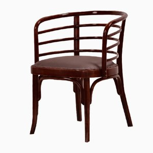 Leather Model 246 Armchairs from Thonet, 1930s, Set of 4