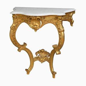 Früher Viktorianischer Vergoldeter Konsolentisch