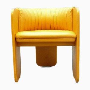 Chaises de Salon en Cuir de Poltrona Frau, 1970s, Set de 4