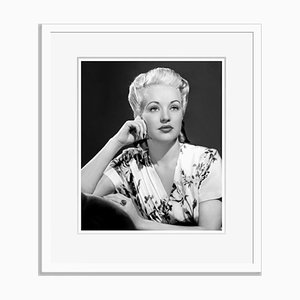 Betty Grable Archival Pigment Print Framed in White by Everett Collection