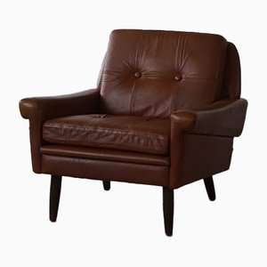 Vintage Danish Cognac Leather Easy Chair by Svend Skipper for Skipper, 1960s