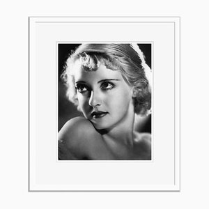 Bette Davis Eyes Archival Pigment Print Framed in White by Alamy Archives