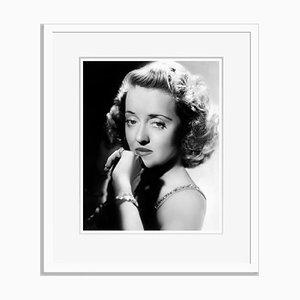 Wistful Bette Archival Pigment Print Framed in White by Everett Collection
