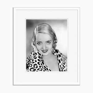 Leopard Print Davis Archival Pigment Print Framed in White by Everett Collection