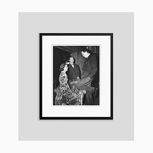 Bette Davis & Frank Craven on Set Archival Pigment Print Framed in Black by Everett Collection