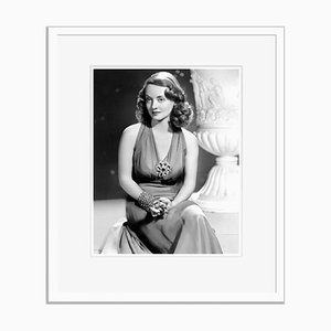 Thoughtful Bette Archival Pigment Print Framed in White by Everett Collection