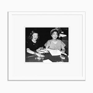 Bette Davis & Joan Crawford Script Reading Archival Pigment Print Framed in White by Everett Collection