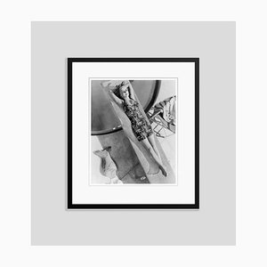 Bette Davis Suited Up for a Swim Archival Pigment Print Framed in Black by Everett Collection