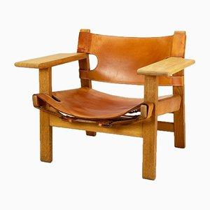 Danish Model BM2226 Spanish Chair by Borge Mogensen for Fredericia, 1960s