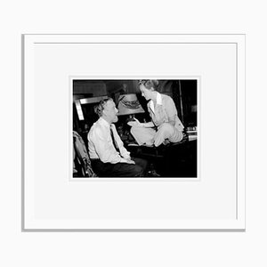 Monty Woolley & Bette Davis Archival Pigment Print Framed in White by Everett Collection