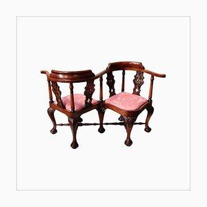 Antiker viktorianischer Love Conversation Seat