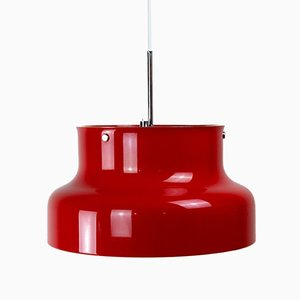 Lampe à Suspension Bumling Rouge par Anders Pehrson pour Ateljé Lyktan, Suède, 1960s