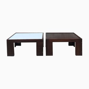 Mid-Century Italian Rosewood Coffee Tables by Tobia & Afra Scarpa, 1950s, Set of 2