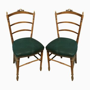 Sedie antiche con strutture intagliate, set di 2