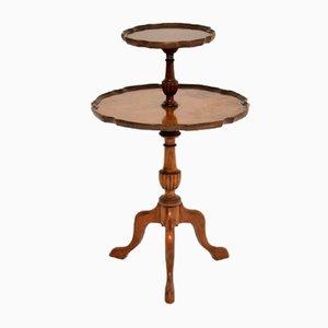 Figured Walnut 2-Tier Table, 1930s