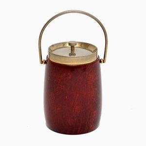 Vintage Lacquered Parchment Ice Bucket by Aldo Tura, 1960s