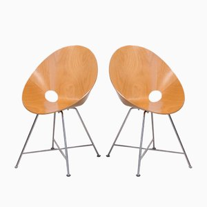 Model 664 Armchairs by Eddie Harlis for Thonet, 1999, Set of 2