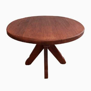 Belgian Brutalist Round Dining Table from De Puydt