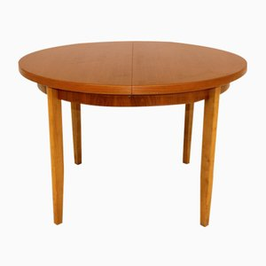 Swedish Teak & Beech Dining Table, 1960s