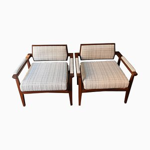 Italian Rosewood Armchairs, 1950s, Set of 2