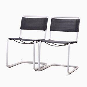 Vintage S33 Gartenstühle von Mart Stam für Thonet, 1980er, 2er Set