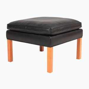Mid-Century Leather Stool by Børge Mogensen for Fredericia, 1990s