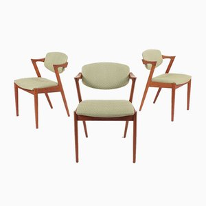 Teak Side Chairs by Kai Kristiansen for Schou Andersen, 1960s, Set of 8