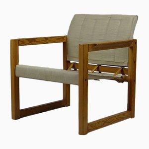 Mid-Century Safari Armlehnstühle mit Beistelltisch von Karin Mobring, 3er Set