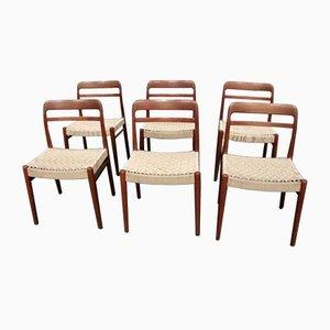Dänische Teak Esszimmerstühle, 1960er, 6er Set