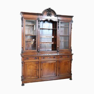 Antique Cherry Wood Large Sideboard, 1880s
